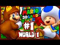 Super Mario 3D Land - (1080p) Part 1 - World 1 (100%)