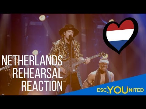 Eurovision 2018 -  Waylon -  Outlaw In'Em (The Netherlands Rehearsal reaction)