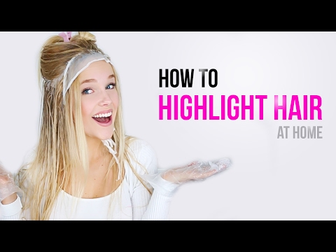 How to highlight your hair at home I My easy way to blonde hair