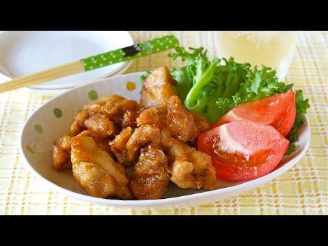 How to Make NO EGG Microwave Karaage (Japanese Fried Chicken) クックパー レンジでから揚げ (レシピ)