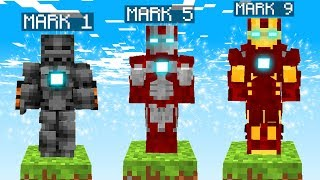 LIFE OF IRON MAN IN MINECRAFT!