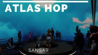 ATLAS hopping stalking Drax and Strawberry Singh in Sansar