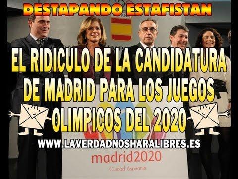 EL RIDÍCULO DE LA CANDIDATURA DE MADRID PARA LOS JUEGOS OLÍMPICOS DEL 2020