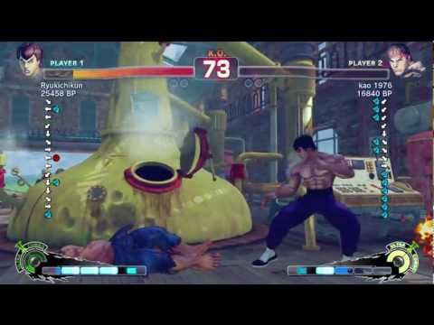 Ryukichikun [Fei] vs kao 1976 [Ryu] SSF4 Japanese Online Ranked Matches - Xbox Live