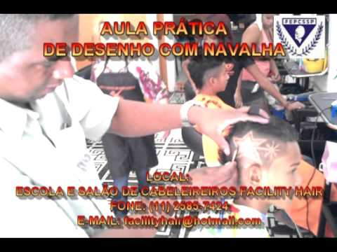CORTE MASCULINO AULA DE DESENHO COM NAVALHA DIA 6 11 12