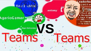 AGAR.IO TEAMS VS TEAMS #6 - ELIMINANDO OS TOP 1 30K MASS