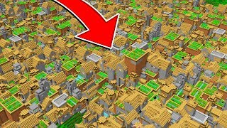 WORLD'S BIGGEST MINECRAFT VILLAGE! *LEGIT*