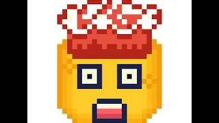 Pixel Art - Exploding Head Emoji