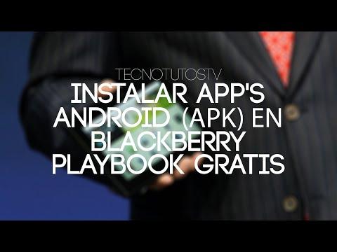 Como instalar apps Android (formato BAR) en BlackBerry Playbook con DDPB HD