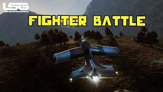 Space Engineers - Aerodynamic Fighter Battle