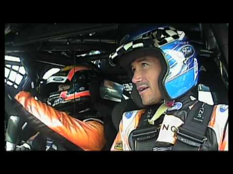 Harry Kewell got a taste of V8 Supercars at the Phillip Island