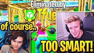 BUGHA *RAGES* & SLAMS DESK after TFUE TRIO *OUTSMART* in TOURNAMENT! (Fortnite)