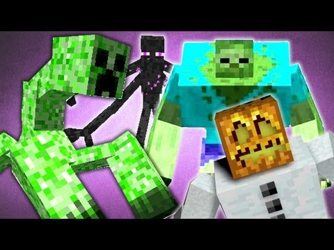 Minecraft EPIC Mod Showcase: Mutant Creatures! Creeper, Zombie, Snow Golem and E