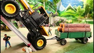 RC TRACTOR CLIMBING TEST at 100% slope - Amazing rc Toy Action on the Farm