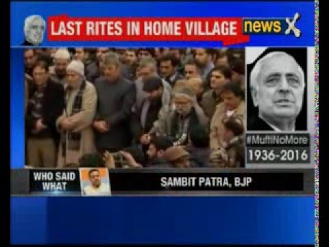 Mufti Mohammad Sayeed, Chief Minister Of Jammu And Kashmir, Dies At 79 his last journey