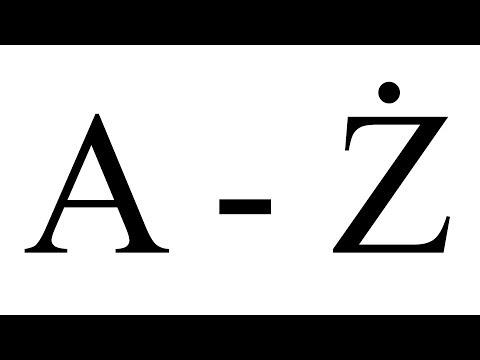 Nauka Literek Dla Dzieci Po Polsku, Alfabet Polski 32 Litery, A Do Ż, CatSmart