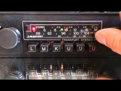 Chromelondon.com BLAUPUNKT FRANKFURT STEREO MONOCHROME CLASSIC CAR RADIO WITH FULL MP3 CONNECTIVITY