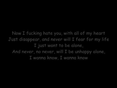 Bullet For My Valentine - Pretty On The Outside (Lyrics)
