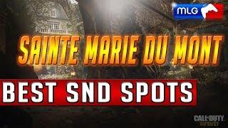COD WW2 Best GB/Competitve SnD Spots - Sainte Marie du Mont