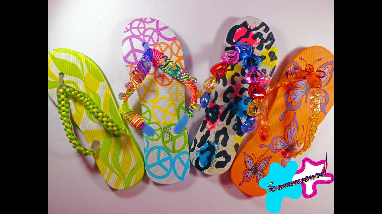 Decora tus sandalias en este verano supermanualdades youtube - Ideas de decoracion baratas ...