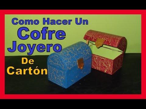 Manualidades Con Carton Faciles y Bonitas Como Hacer COFRE JOYERO de Carton 2016
