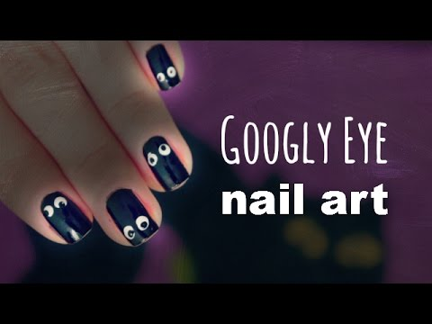 Googly Eye Nail Tutorial + DIY Nail Art Tools!!! |12 Days of Halloween 2014