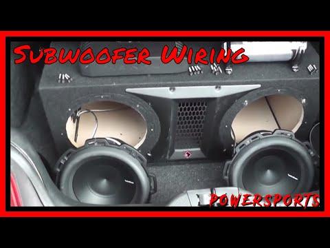 Subwoofer Wiring Tutorial - Rockford Fosgate P2-2X10 - Rockford RFC1 - Rockford P500X1bd