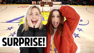 SURPRISE Lakers Tickets! | Vlogmas Day 5