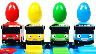 Learn Colors Numbers 1 to 10 Tayo the Little Bus Pop up Surprise Pals Play Doh Creative and Fun