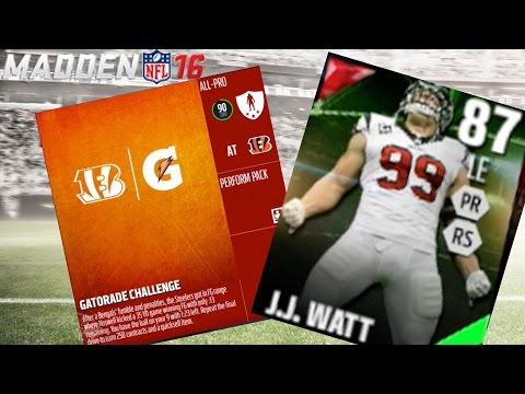 TOTW J.J. WATT SUCKS! GATORADE CHALLENGE! 250 CONTRACTS! | Madden 16 Ultimate Team | MUT 16 Gameplay
