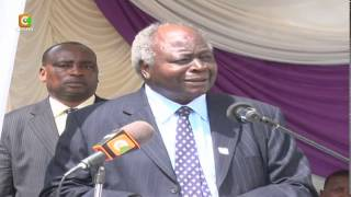 Retired President Mwai Kibaki's Buries Elder Brother