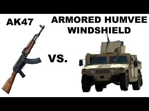 AK47 vs. Armored Humvee Windshield! The Physics of Laminated Glass