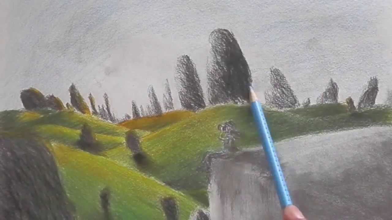its always beautiful colored pencil landscape youtube