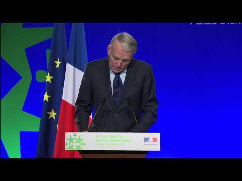 Discours de clôture de Jean-Marc Ayrault à la Conférence environnementale
