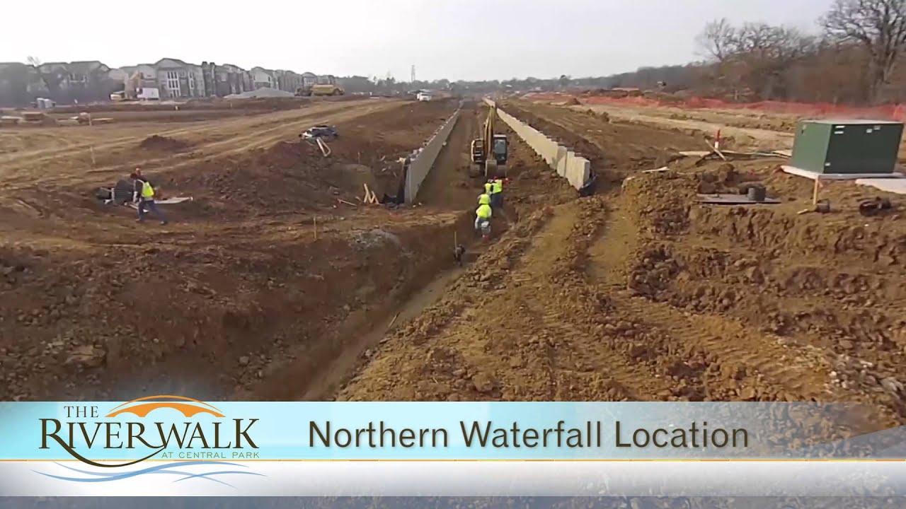 Aerial Video Tour of Construction River Walk Development Flower Mound TX