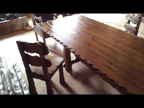 Столы под старину своими руками 179