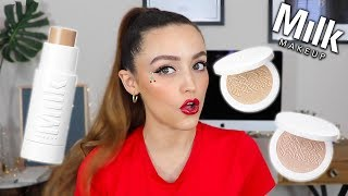 BEST FOUNDATION STICK EVER?!? NEW MILK MAKEUP FLEX FOUNDATION & HIGHLIGHTS