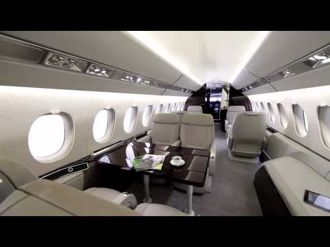 Falcon 2000s 900lx 7x to highlight dassault 39 s ebace for Interieur falcon 2000