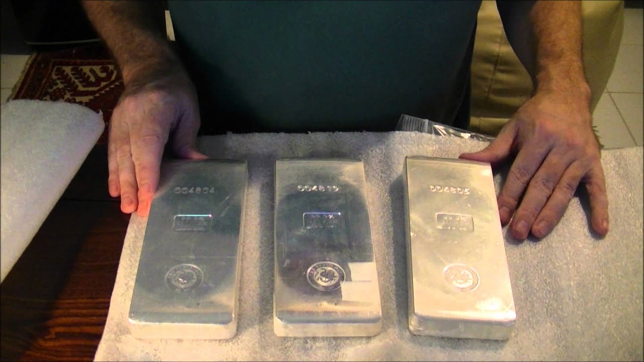 Silver 100oz Perth Mint Silver Bars Youtube