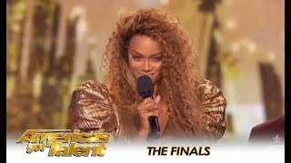 Tyra Banks KICKS OFF The AGT FINALS w/ A Bang 💥 | America's Got Talent 2018