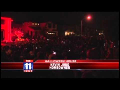 FOX Channel 11 News (Los Angeles Local KTTV) -- 2011 Halloween Light Show