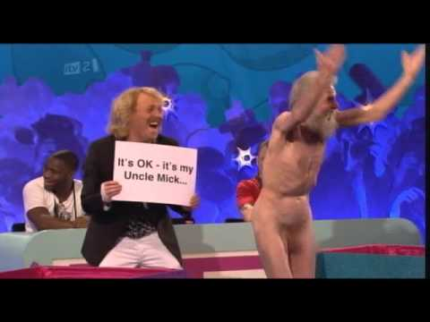 The Old naked man and Fearne Cotton - Celeb Juice 24/02/11