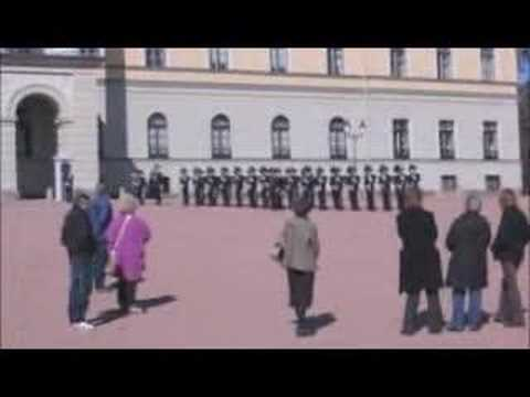 Departure from Norwegian Royal Palace on 17.april 2008 (poor quality)