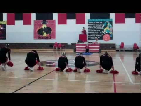 Washtenaw Christian Academy's 2012 Homecoming Cheerleading Routine - 11/26/2012