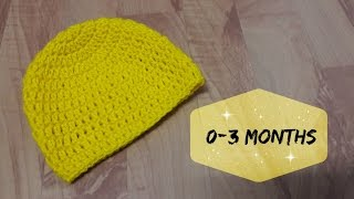 Download How to crochet a hat for 0 - 3 months old baby? | !Crochet! 3Gp Mp4