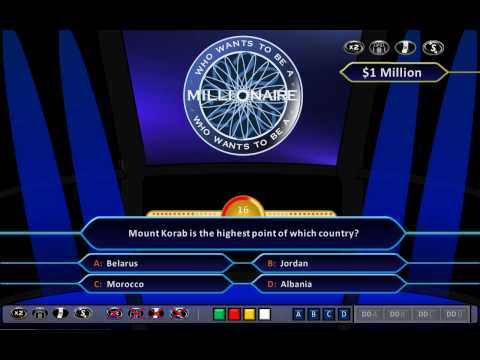 Who Wants To Be A Millionaire Demonstration [hd, Ppt 2010, Us Clock Format] video