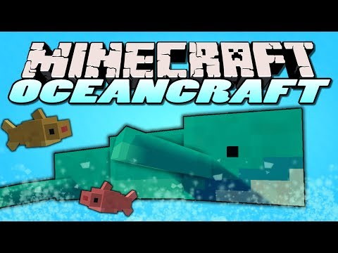 Minecraft Mods - Oceancraft Mod - WHALES.SHARKS.NETS! (Minecraft Mod Showcase)