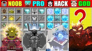 Minecraft NOOB vs PRO vs HACKER vs GOD SUPER BOSS BATTLE CRAFTING CHALLENGE in Minecraft Animation