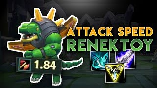 HOW STUPID IS 1.84 ATTACK SPEED ON RENEKTON?! NEW RENEKTON HYPER CARRY BUILD - League of Legends