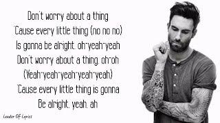 Maroon 5 - THREE LITTLE BIRDS (Lyrics) 3.8 MB